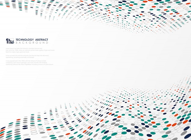 Nowożytny technologia okrąg barwi tło futurystyczny projekt