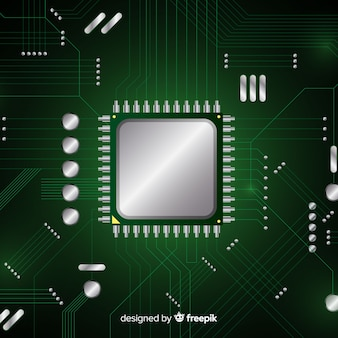 Nowożytny zielony procesoru tło