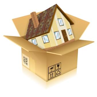 Nowy dom po wyjęciu z pudełka