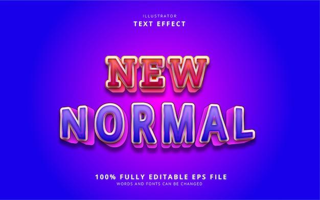 Nowy efekt normalnego tekstu