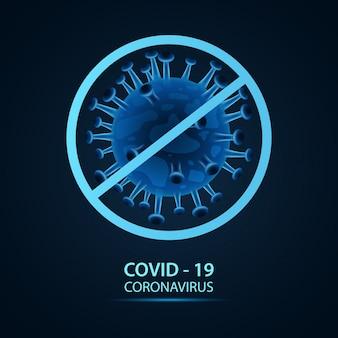 Nowy koronawirus (2019-ncov). zatrzymaj koncepcje koronawirusa. ilustracja