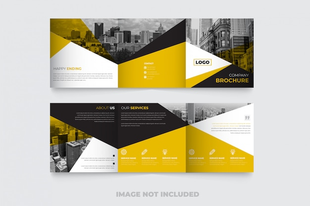 Nowy kreatywny kwadratowy szablon broszury potrójnej