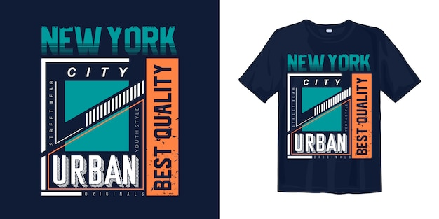 Nowy miejski styl miejski do nadruku na koszulce