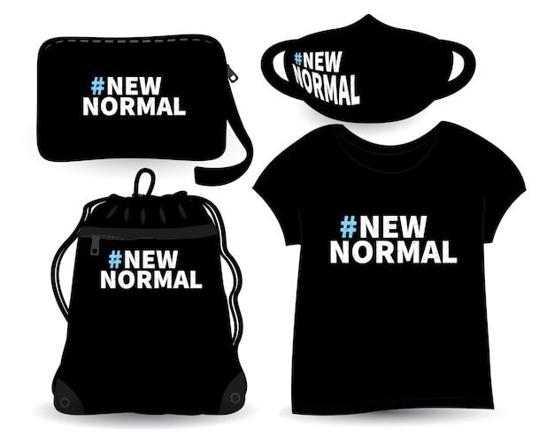 Nowy, normalny projekt napisów na koszulkach i gadżetach