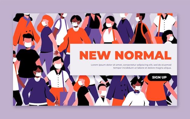 Nowy normalny szablon banera