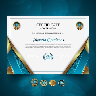 Nowy projekt szablonu luksusowego certyfikatu profesjonalnego