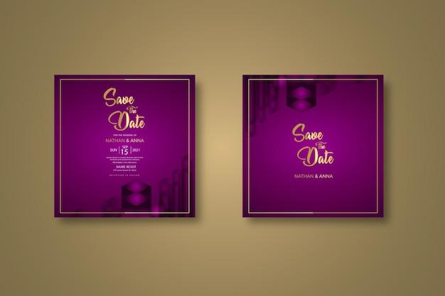 Nowy projekt szablonu zaproszenia na ślub
