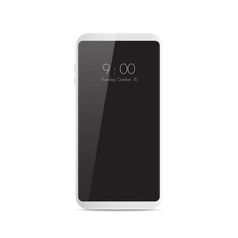 Nowy realistyczny inteligentny telefon komórkowy w nowoczesnym stylu.