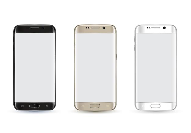 Nowy realistyczny makieta smartphone.