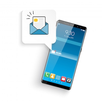 Nowy realistyczny nowoczesny telefon komórkowy