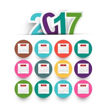 Nowy rok 2017 kalendarza