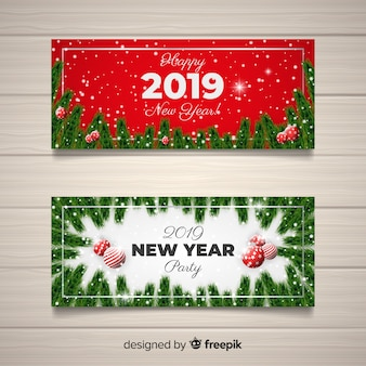 Nowy rok 2019 banery imprezowe