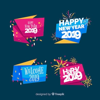 Nowy rok 2019 kolekcji etykiet