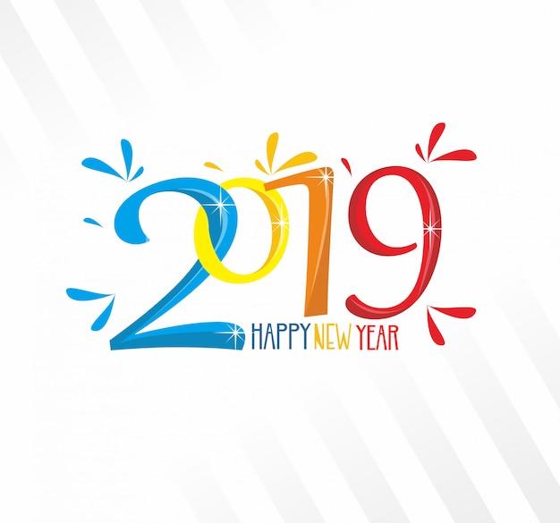 Nowy rok 2019 kolorowe tło