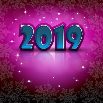 Nowy rok 2019 pozdrowienia na różowym tle