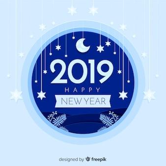 Nowy rok 2019 styl tło papieru