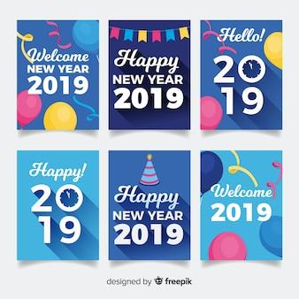 Nowy rok 2019 zestaw kart