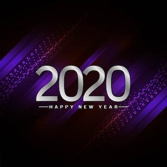 Nowy rok 2020 ozdobny stylowy tło