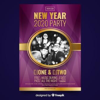 Nowy rok 2020 plakat party przyjaciół