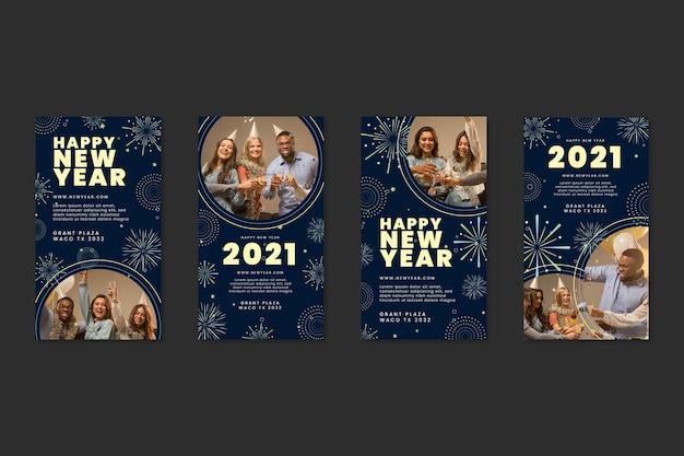 Nowy rok 2021 ig post kolekcja