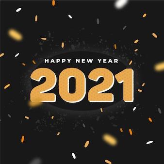 Nowy rok 2021 konfetti tło