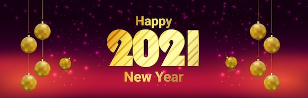 Nowy rok banner lub nagłówek