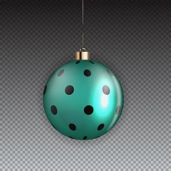 Nowy rok i boże narodzenie kula na przezroczystym tle. ilustracja
