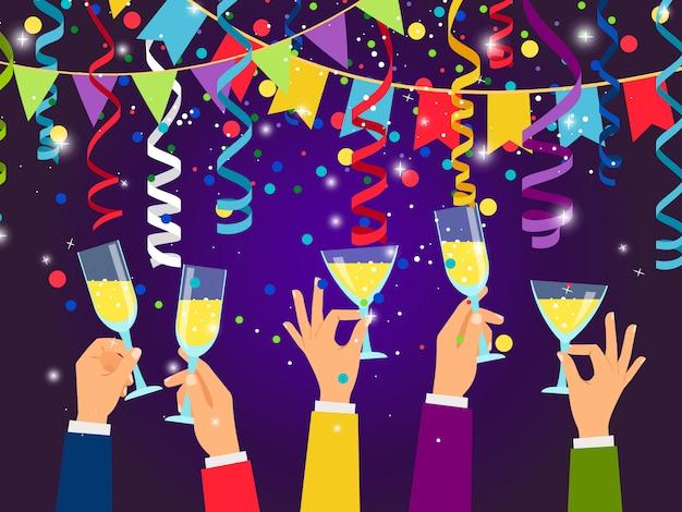 Nowy rok i święta tło