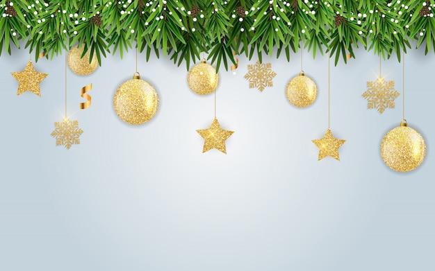 Nowy rok i wesołych świąt bożego narodzenia tło