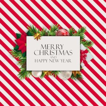 Nowy Rok I Wesołych świąt Bożego Narodzenia Premium Wektorów