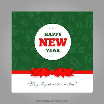 Nowy rok kartkę z życzeniami