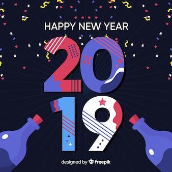 Nowy rok konfetti tła