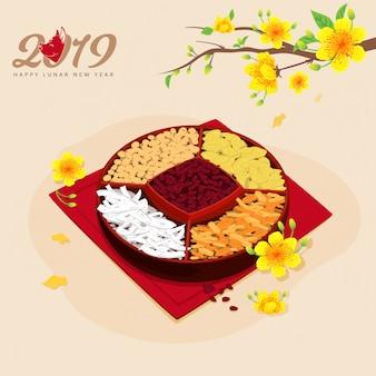 Nowy rok księżycowy tradycyjne jedzenie