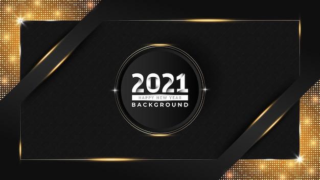 Nowy rok luksusowy projekt tła ze złotym wzorem
