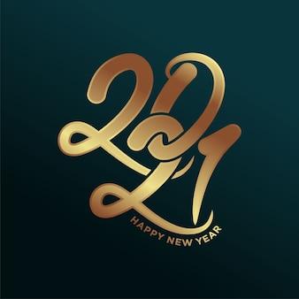 Nowy rok luksusowy szablon projektu