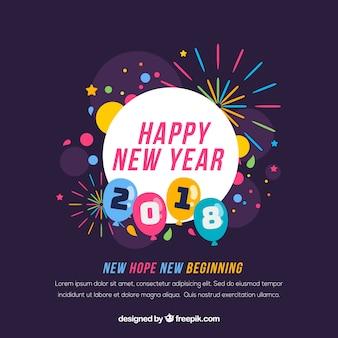 Nowy rok nowy początek tło