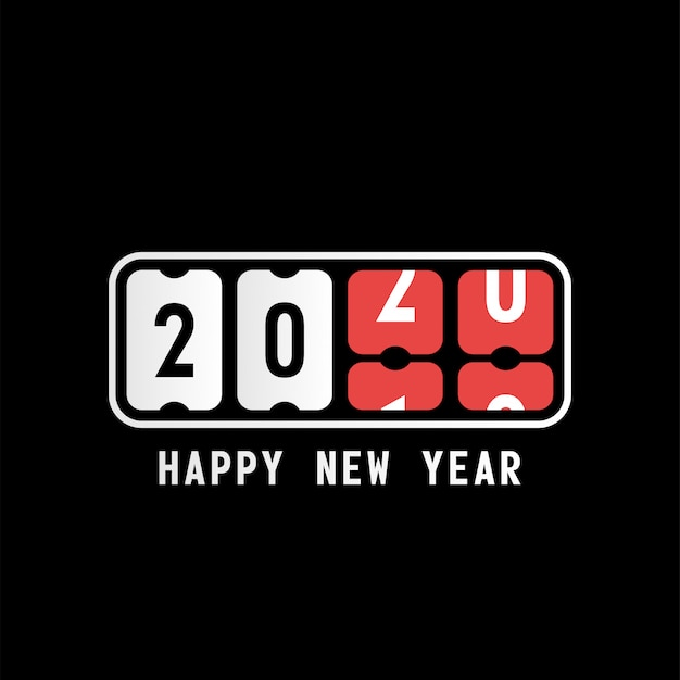 Nowy rok odliczanie numeryczne na czarnym tle
