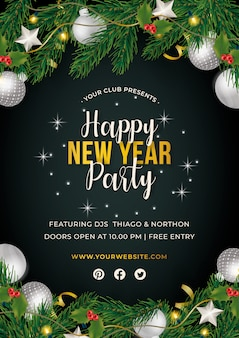 Nowy rok party plakat