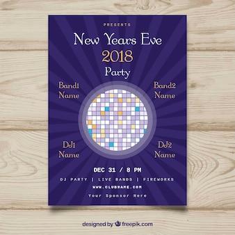 Nowy rok plakat 2018