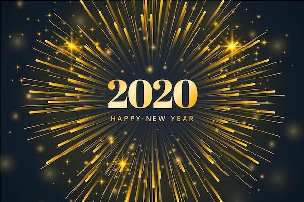 Nowy rok płaska konstrukcja tła
