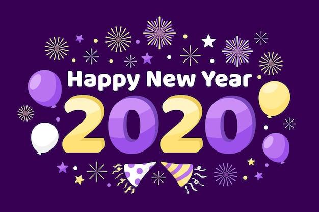 Nowy rok płaskie tło