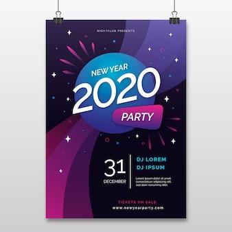 Nowy rok streszczenie szablon ulotki partii