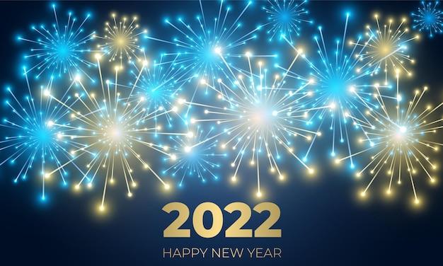 Nowy rok świąteczne tło z fajerwerkami i błyszczącymi światłami uroczystości