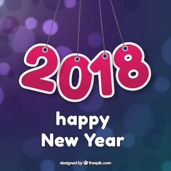Nowy rok tło 2018