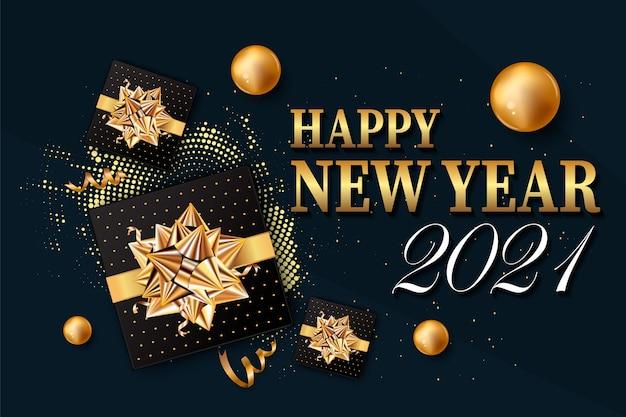 Nowy rok tło dla karty z pozdrowieniami świątecznymi