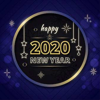 Nowy rok tło w płaska konstrukcja