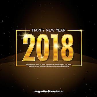 Nowy rok tło z złotymi cyframi