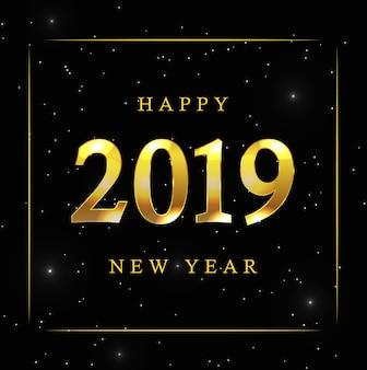Nowy rok tło z złotymi gwiazdami