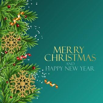 Nowy rok wakacje i wesołych świąt bożego narodzenia tło. ilustracja