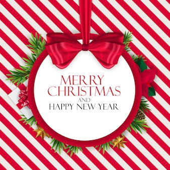 Nowy rok wakacje i wesołych świąt bożego narodzenia tło. ilustracji wektorowych
